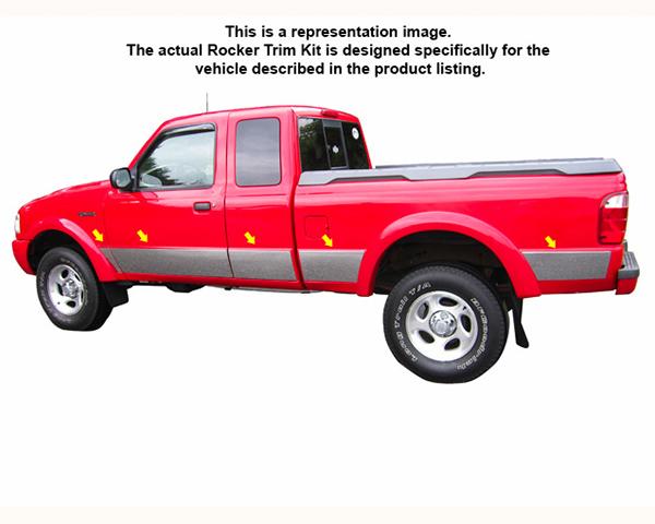 Quality Automotive Accessories 10-Piece Rocker Panel Trim Kit Ford Ranger 2000