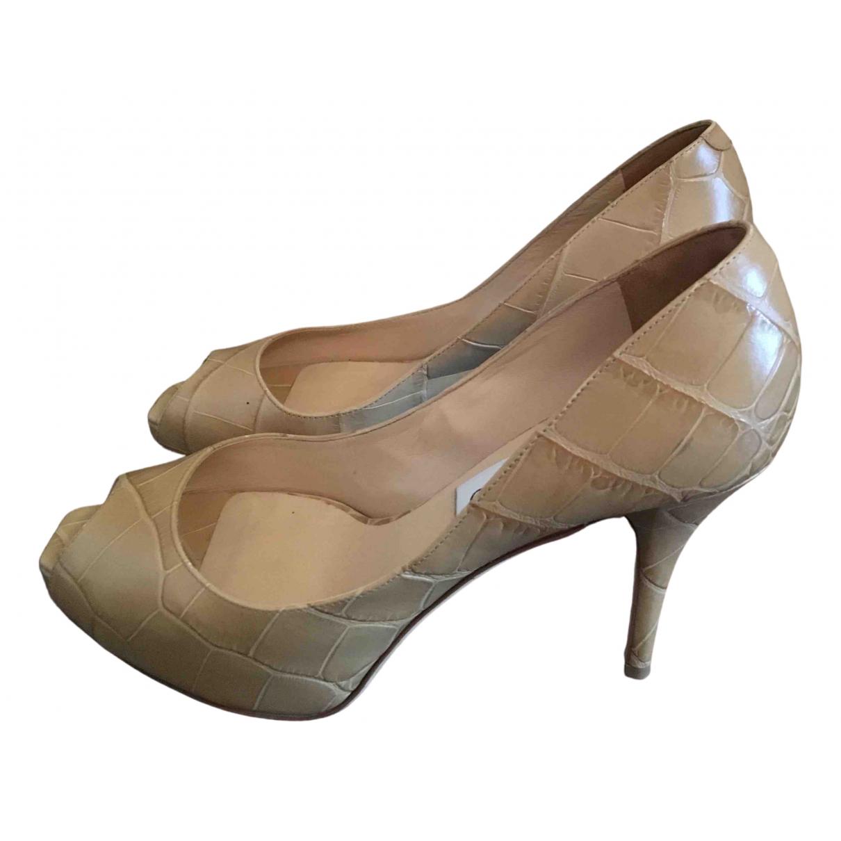Jimmy Choo - Escarpins   pour femme en cuir - beige
