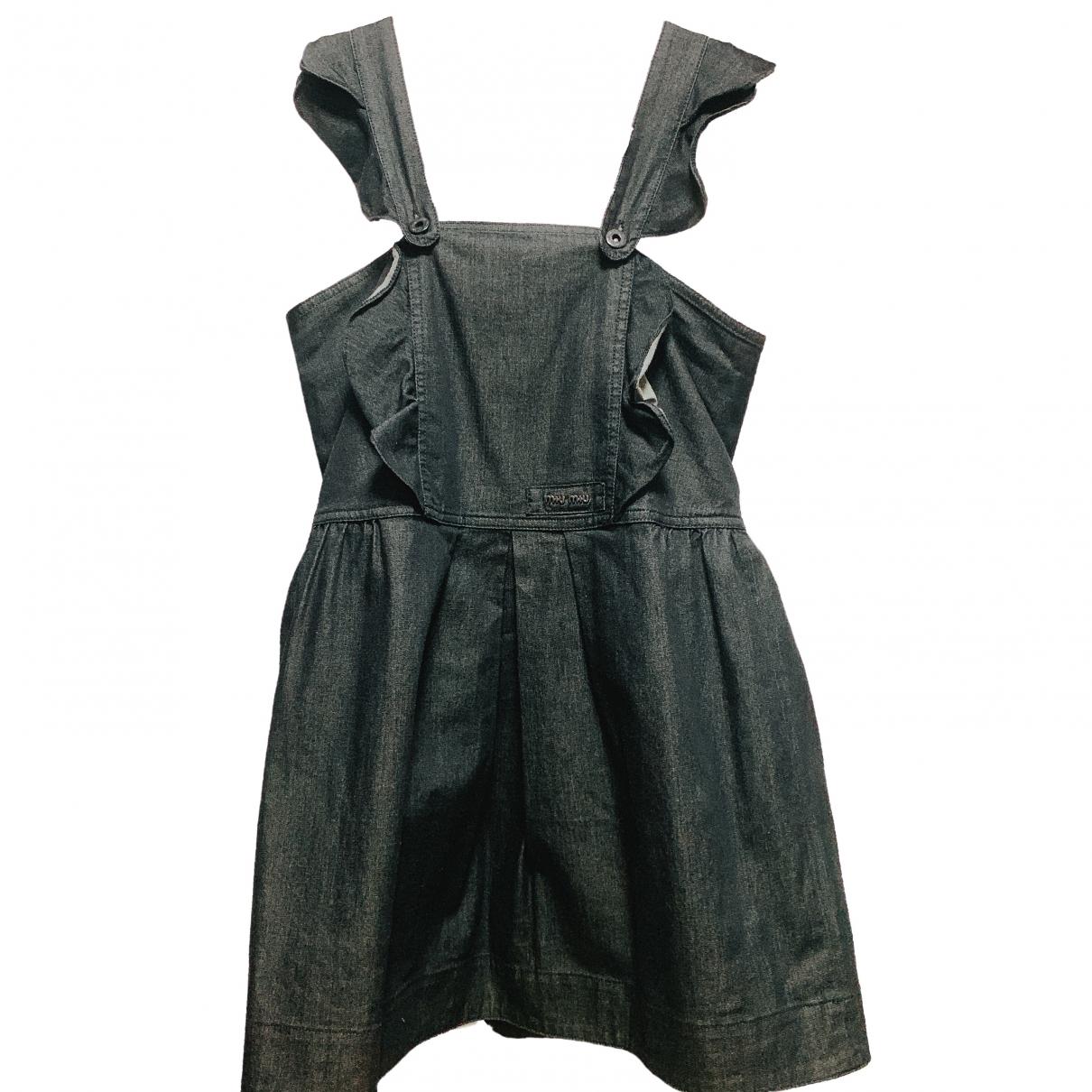 Miu Miu \N Kleid in  Schwarz Denim - Jeans