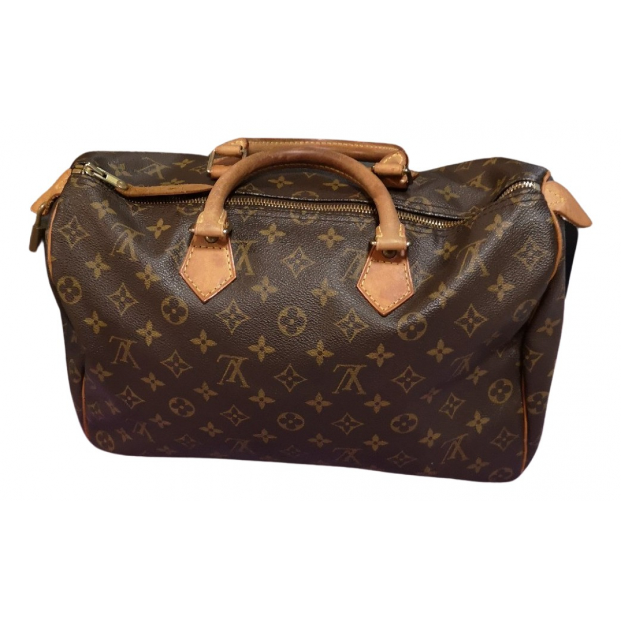 Louis Vuitton Speedy Handtasche in  Braun Leinen