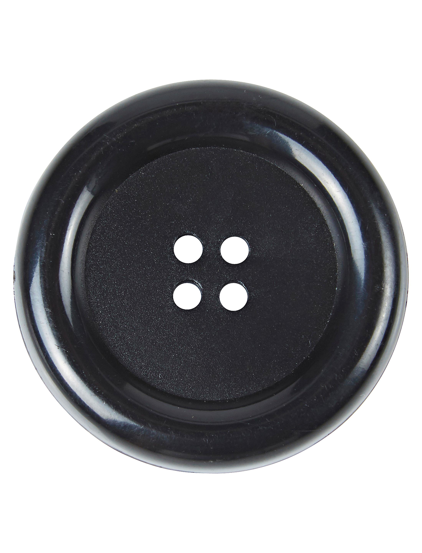 Kostuemzubehor Knopfe schwarz 4cm 4 Stk.