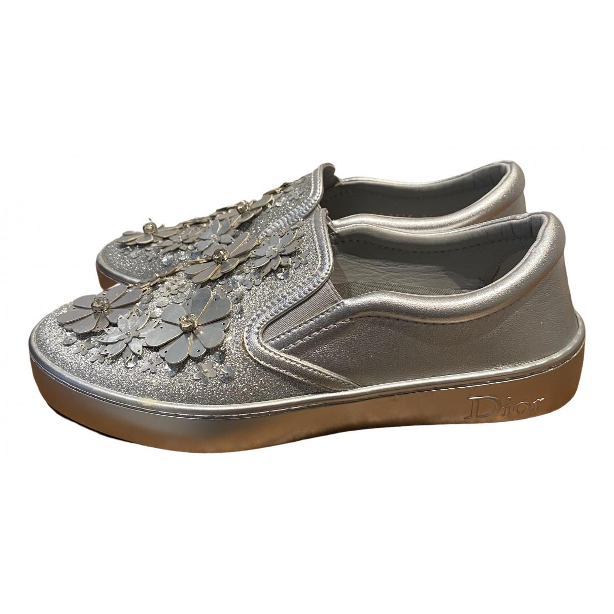 Dior \N Sneakers in  Silber Leder