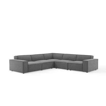 Restore Collection EEI-4117-CHA 5-Piece Sectional Sofa in Charcoal