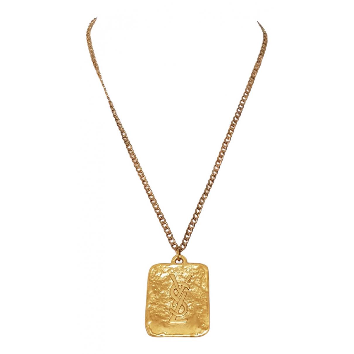 Yves Saint Laurent \N Kette in  Gold Metall