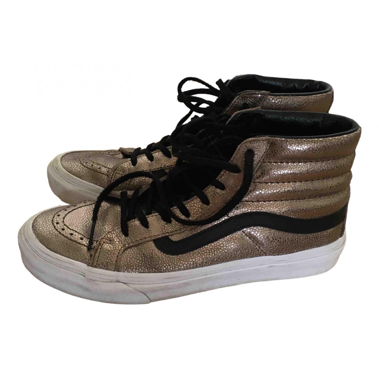 Vans \N Sneakers in  Metallic Leder