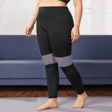 Leggings y pantalones deportivos de talla grande A rayas