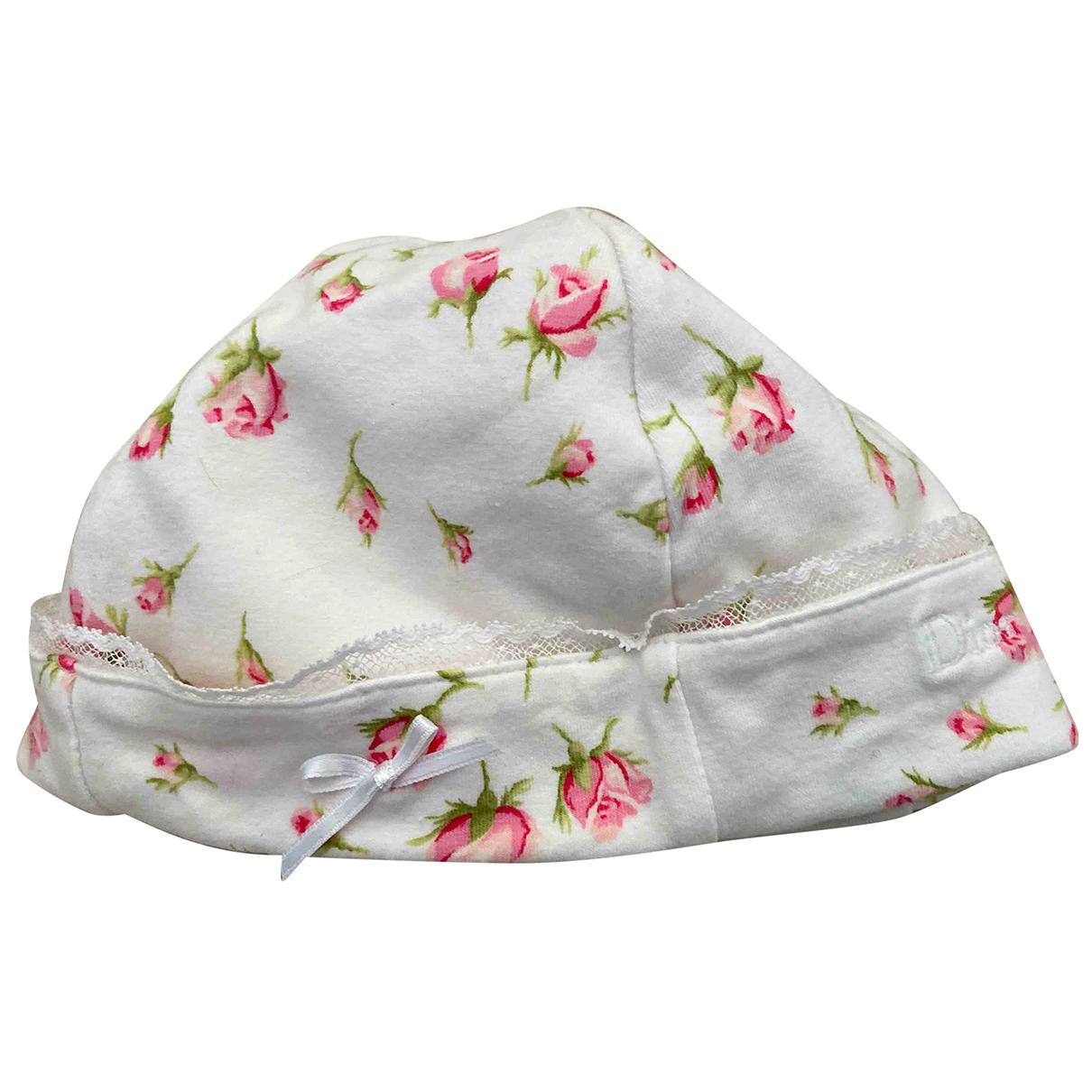 Baby Dior \N Hut, Muetzen, Handschuhe in  Weiss Baumwolle