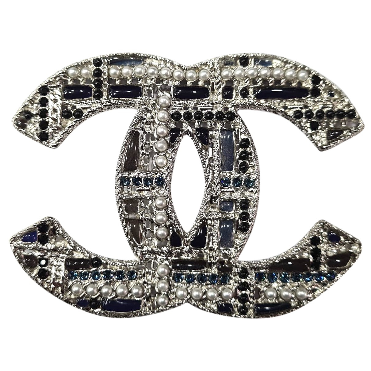 Chanel CC Silver Metal Pins & brooches for Women N