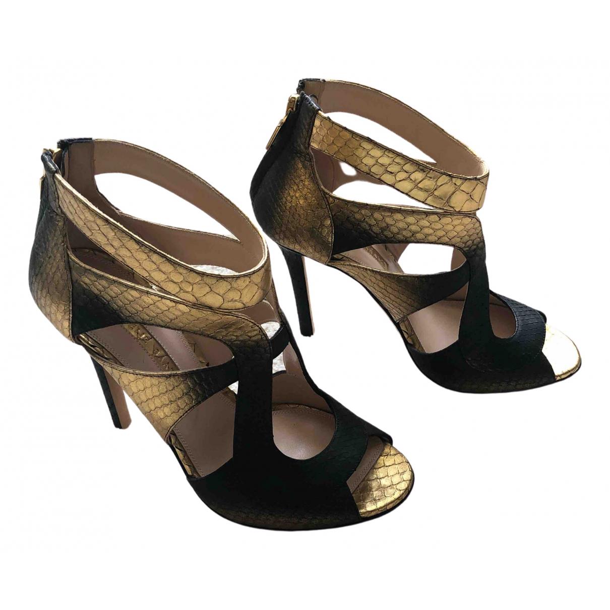 Elie Saab - Sandales   pour femme en cuir - multicolore