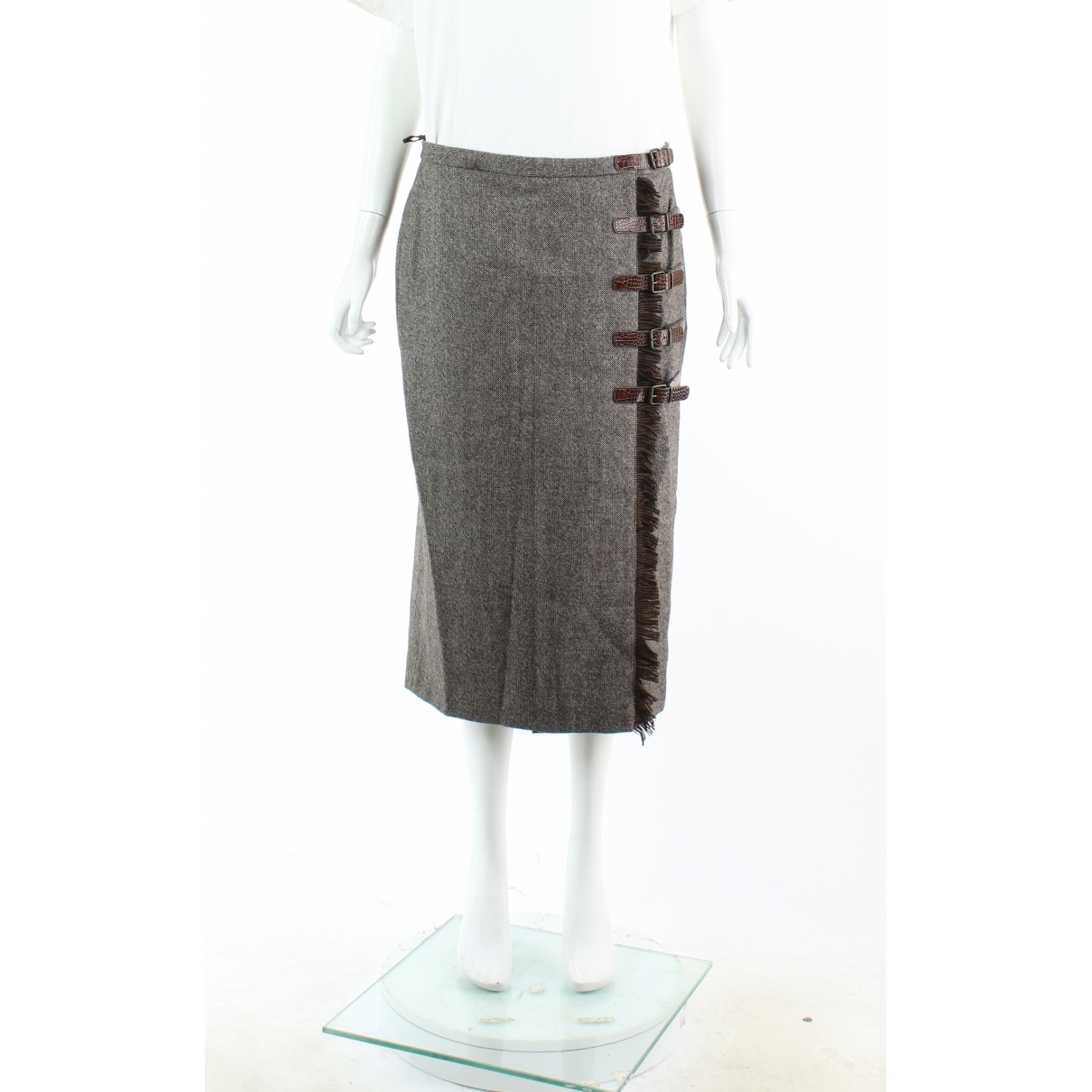 Alexander Mcqueen \N Brown Wool skirt for Women 46 FR