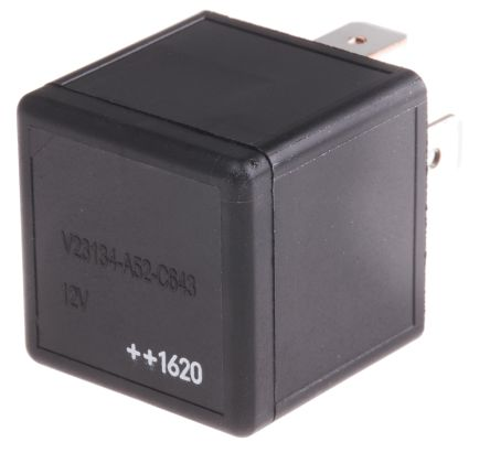 TE Connectivity , 12V dc Coil Automotive Relay SPDT, 40A Switching Current Plug In Single Pole