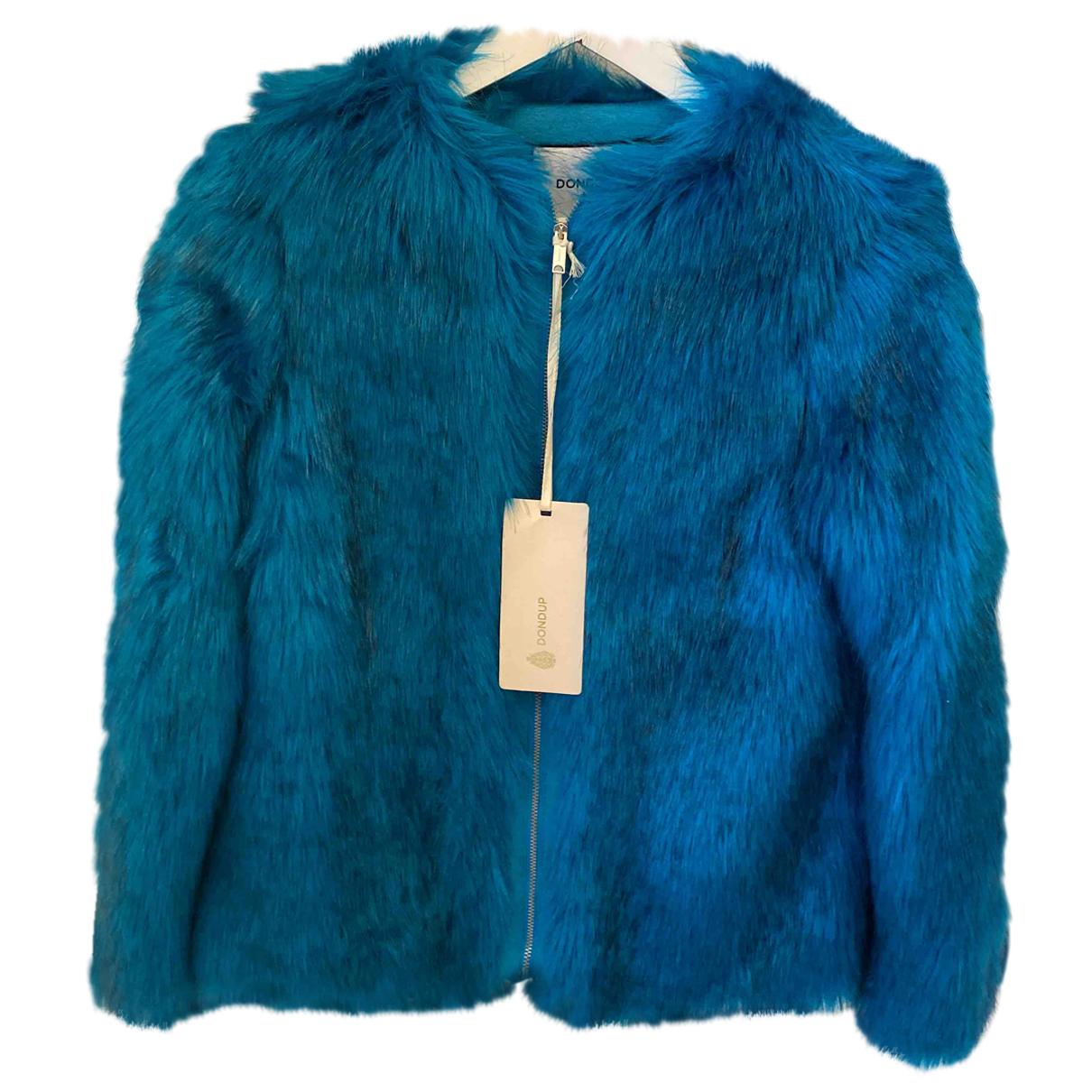 Dondup - Veste   pour femme en fourrure synthetique - turquoise