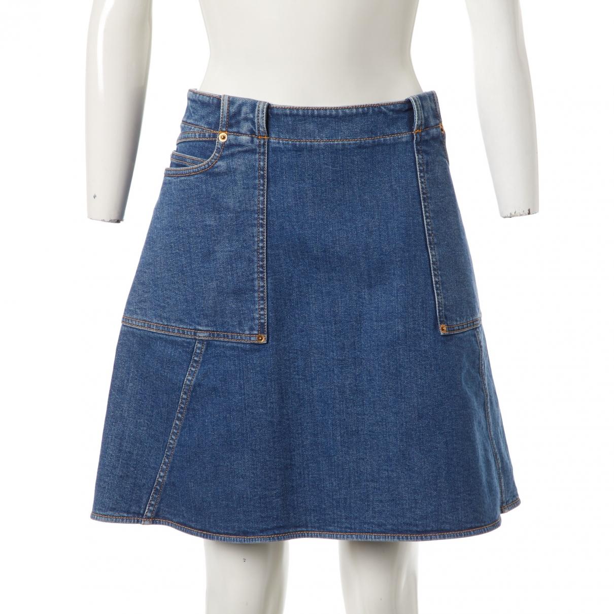 Louis Vuitton \N Rocke in  Blau Denim - Jeans