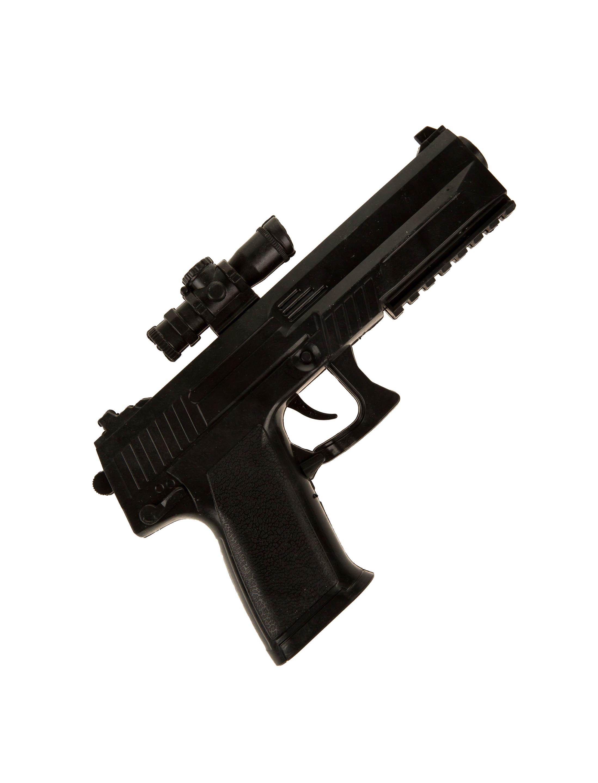 Kostuemzubehor Pistole mit Visier schwarz 23cm