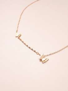Girls Butterfly Charm Necklace
