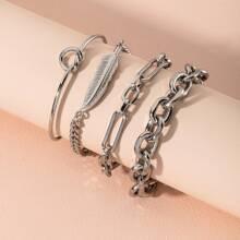 4pcs Knot Design Bracelet