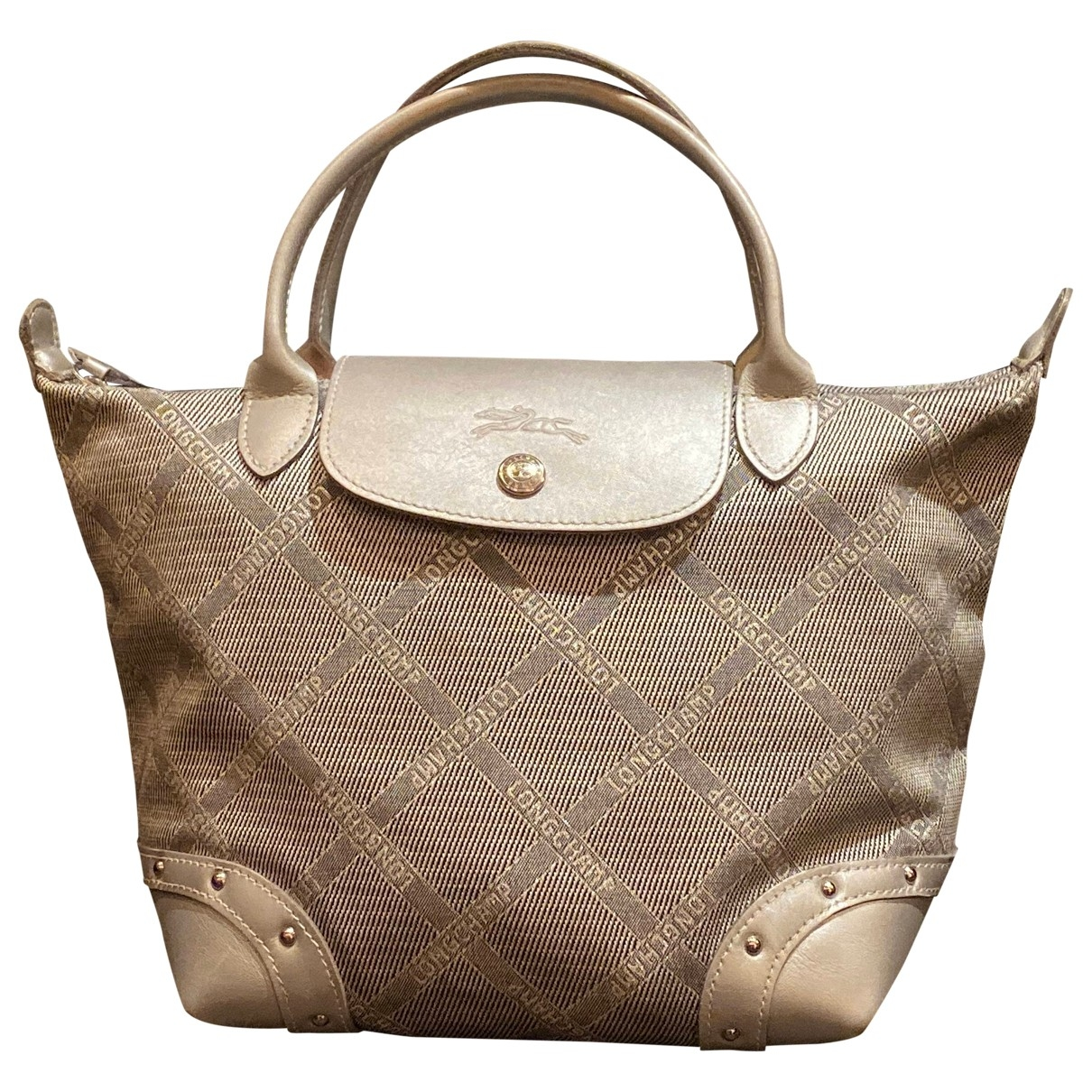 Longchamp Pliage  Silver Cloth handbag for Women \N