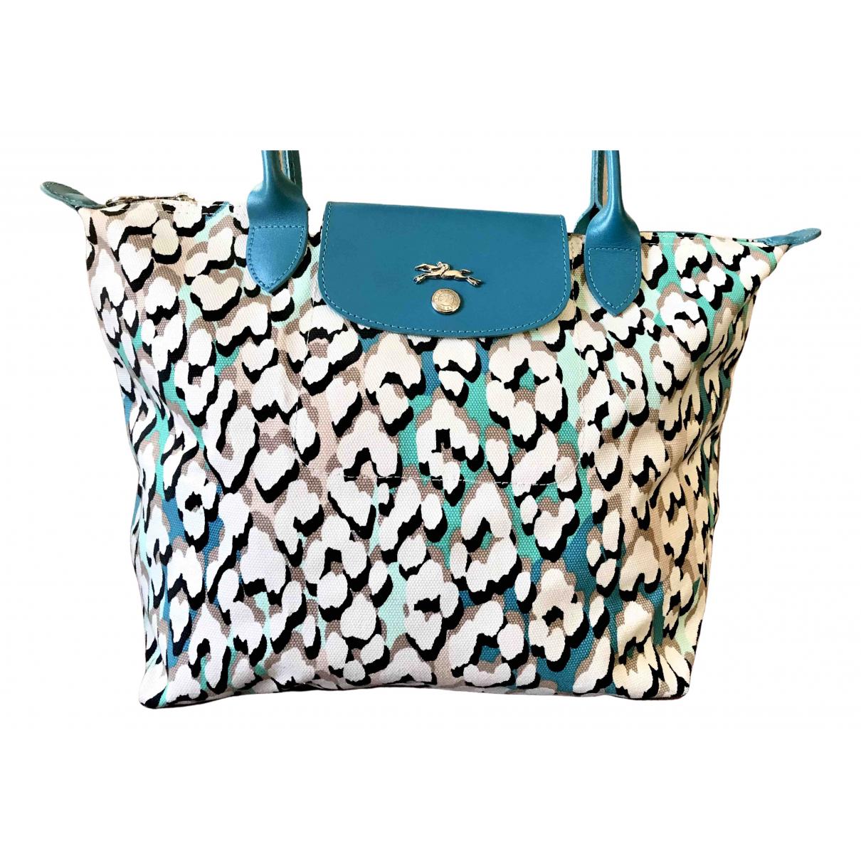 Longchamp - Sac de voyage Pliage  pour femme en toile - multicolore