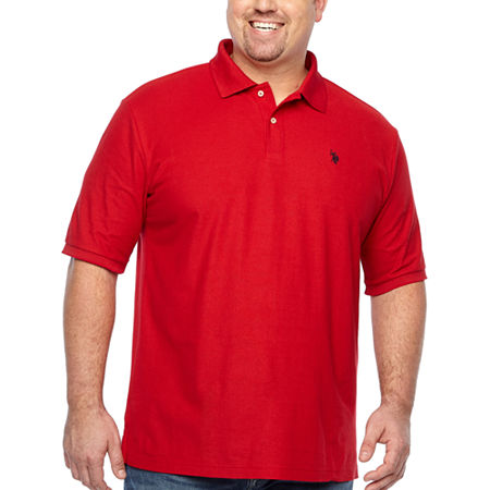 U.S. Polo Assn. Big and Tall Mens Short Sleeve Polo Shirt, 3x-large , Red