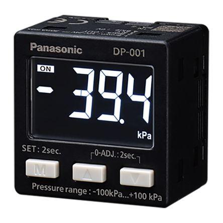 Panasonic Pressure Sensor for Air, Non-Corrosive Gas , 1bar Max Pressure Reading NPN-NO/NC