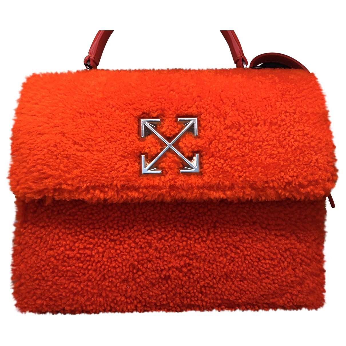Off-white \N Orange Leather handbag for Women \N