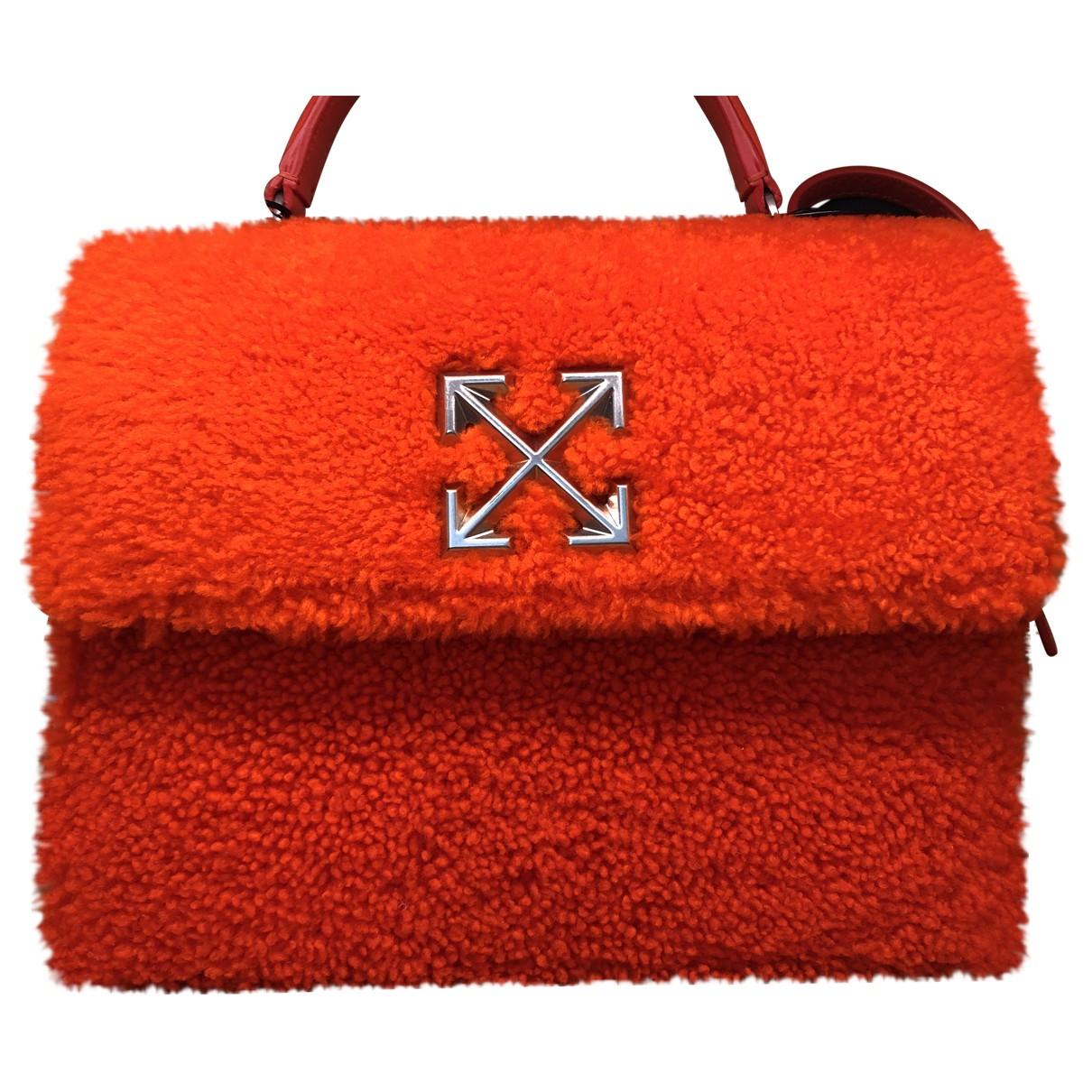Off-white \N Handtasche in  Orange Leder