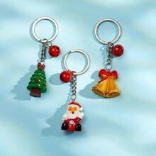 3 piezas llavero con arbol de Navidad