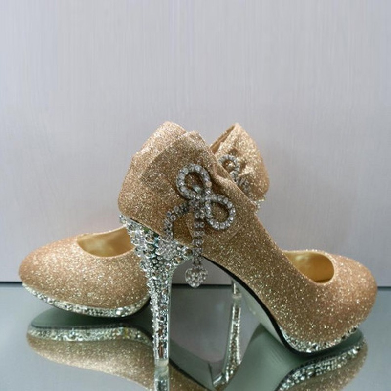 PU Upper Stiletto Heels Closed-toes Prom Shoes