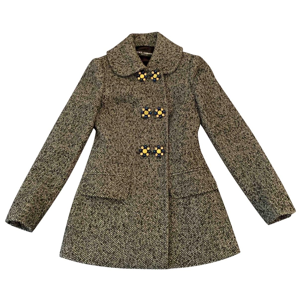 Dolce & Gabbana - Manteau   pour femme en laine - anthracite