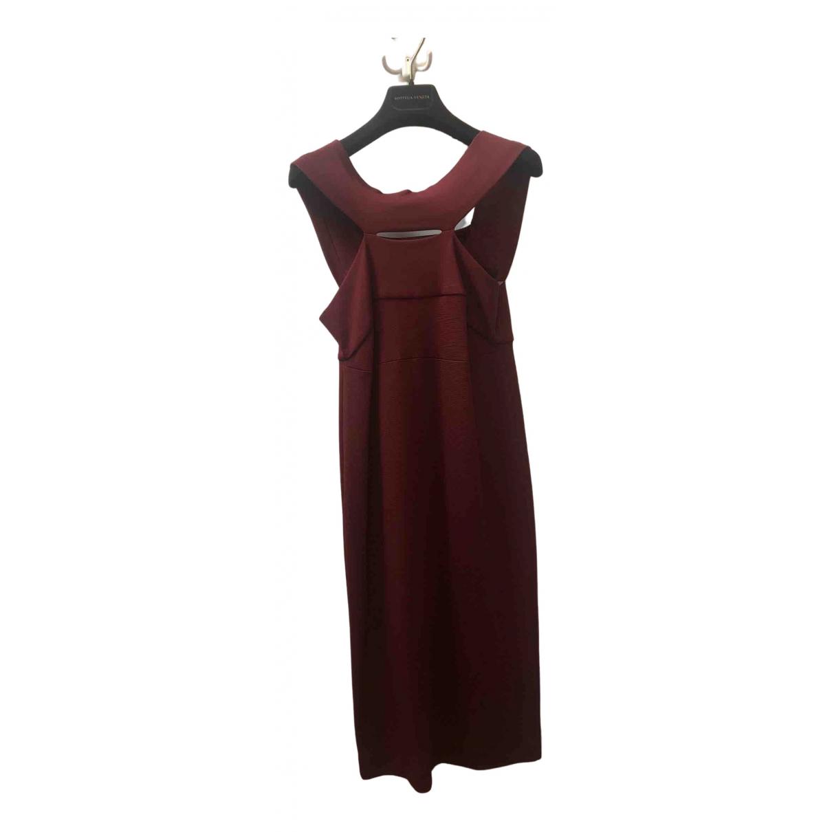 Bottega Veneta - Robe   pour femme en coton - bordeaux