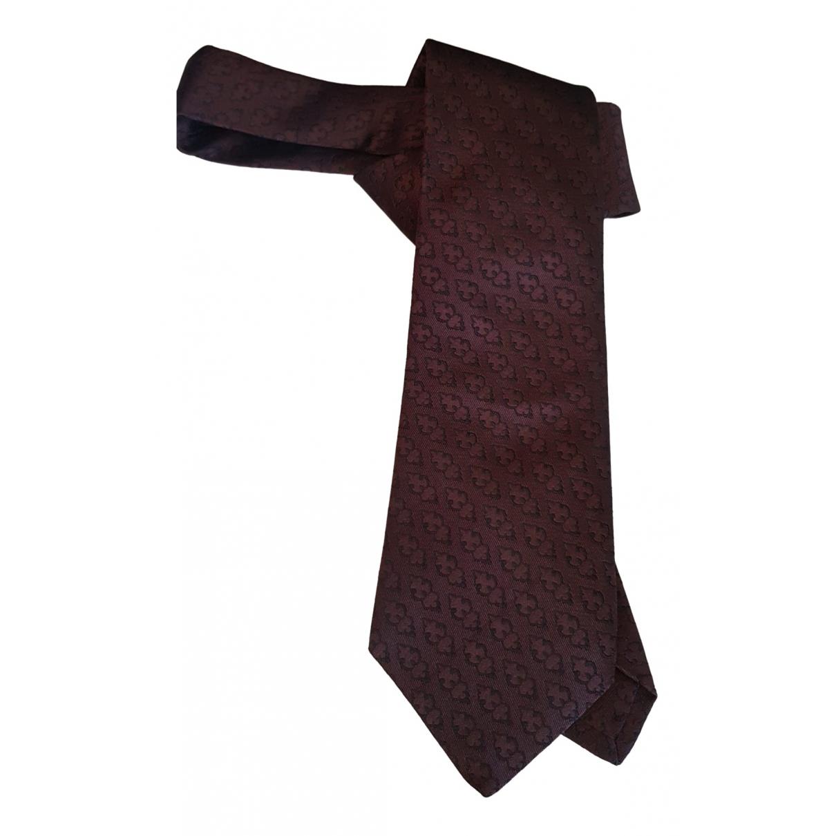 Prada \N Krawatten in  Braun Seide