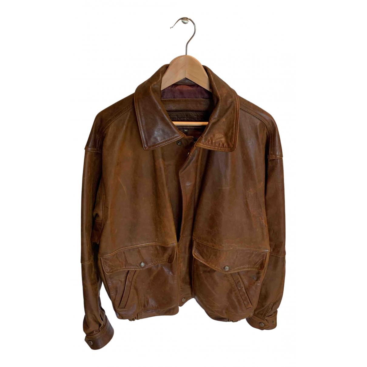 Timberland - Vestes.Blousons   pour homme en cuir - marron