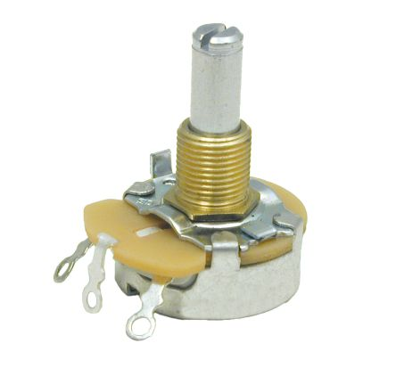 CTS Linear Potentiometer with an 6.35 mm Dia. Shaft - 10Ω, ±20%, 5W Power Rating, Linear, SMD