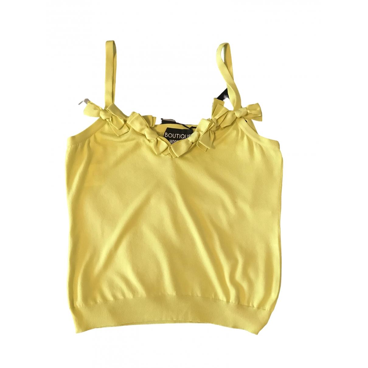 Moschino \N Top in  Gelb Viskose