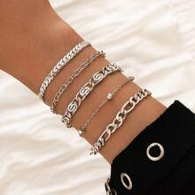 5pcs Minimalist Chain Bracelet
