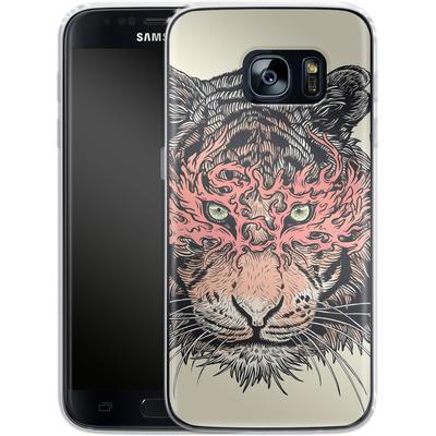 Samsung Galaxy S7 Silikon Handyhuelle - Masked Tiger von Mat Miller