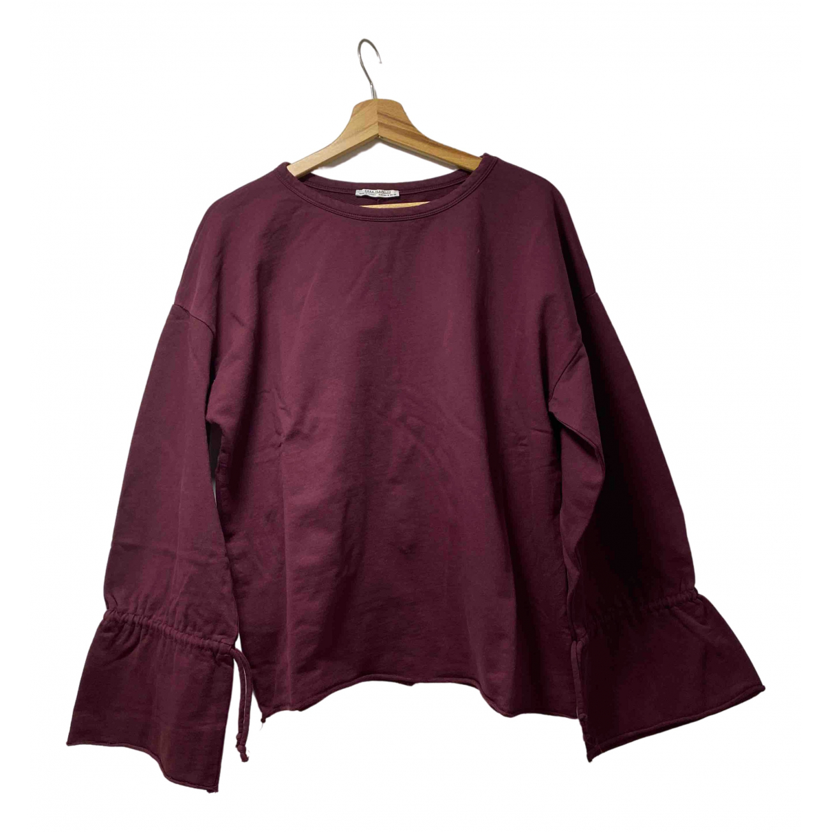 Zara \N Burgundy Cotton Knitwear for Women M International