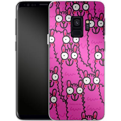 Samsung Galaxy S9 Silikon Handyhuelle - Lama Pink Dream von Flossy and Jim