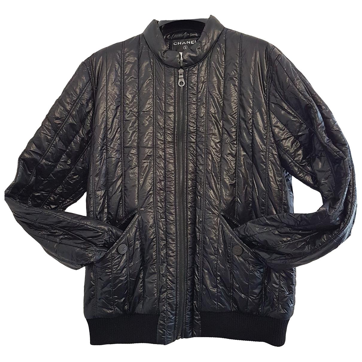 Chanel \N Lederjacke in  Schwarz Polyester