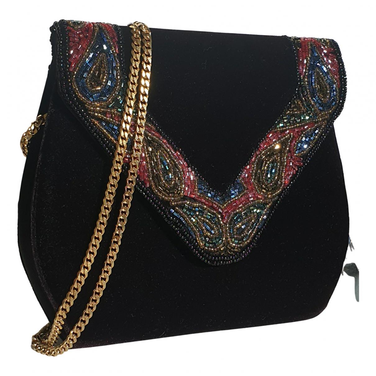 Dior - Sac a main   pour femme en velours - noir