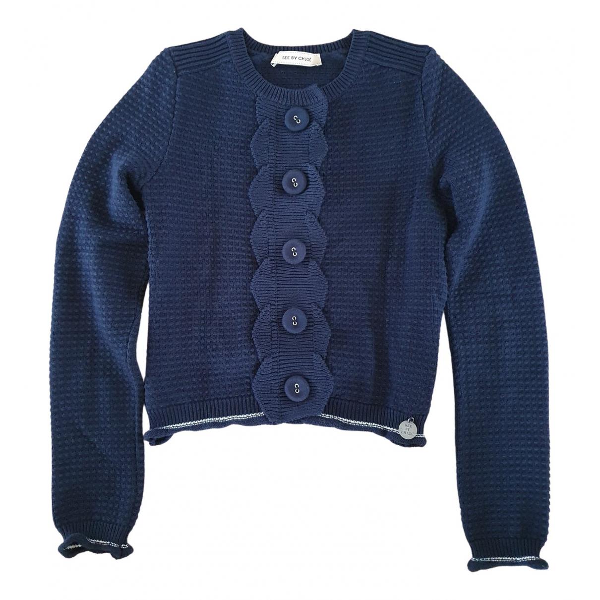 See By Chloe \N Pullover in  Blau Baumwolle