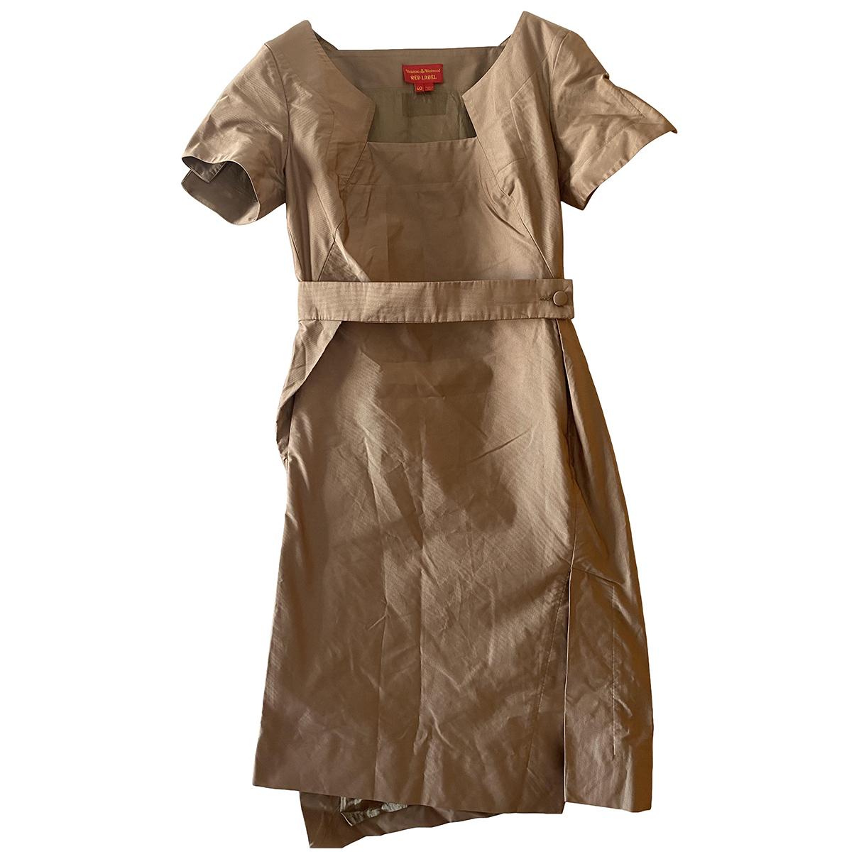 Vivienne Westwood Red Label \N Kleid in  Beige Seide