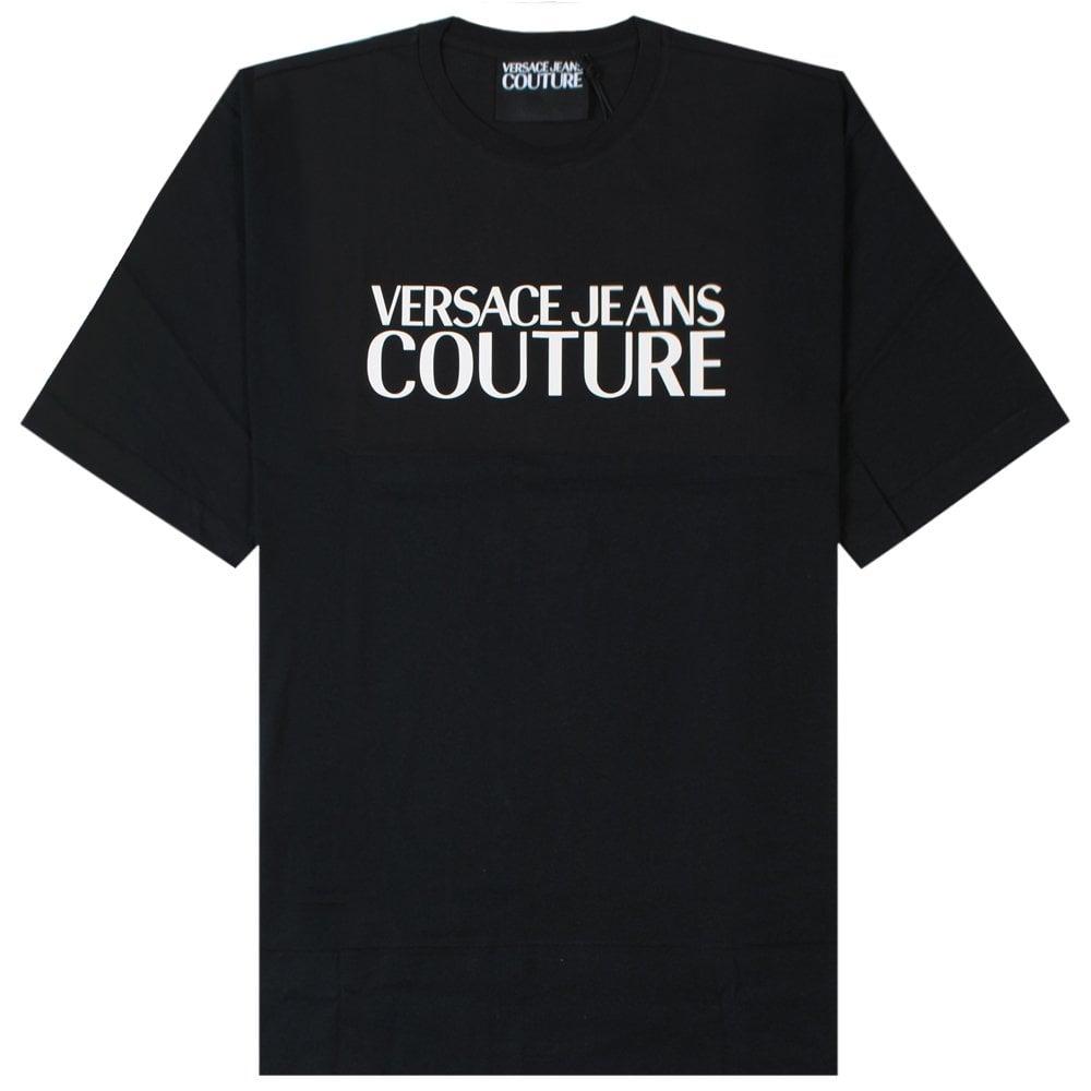 Versace Jeans Couture Logo Print T-Shirt Colour: BLACK, Size: LARGE