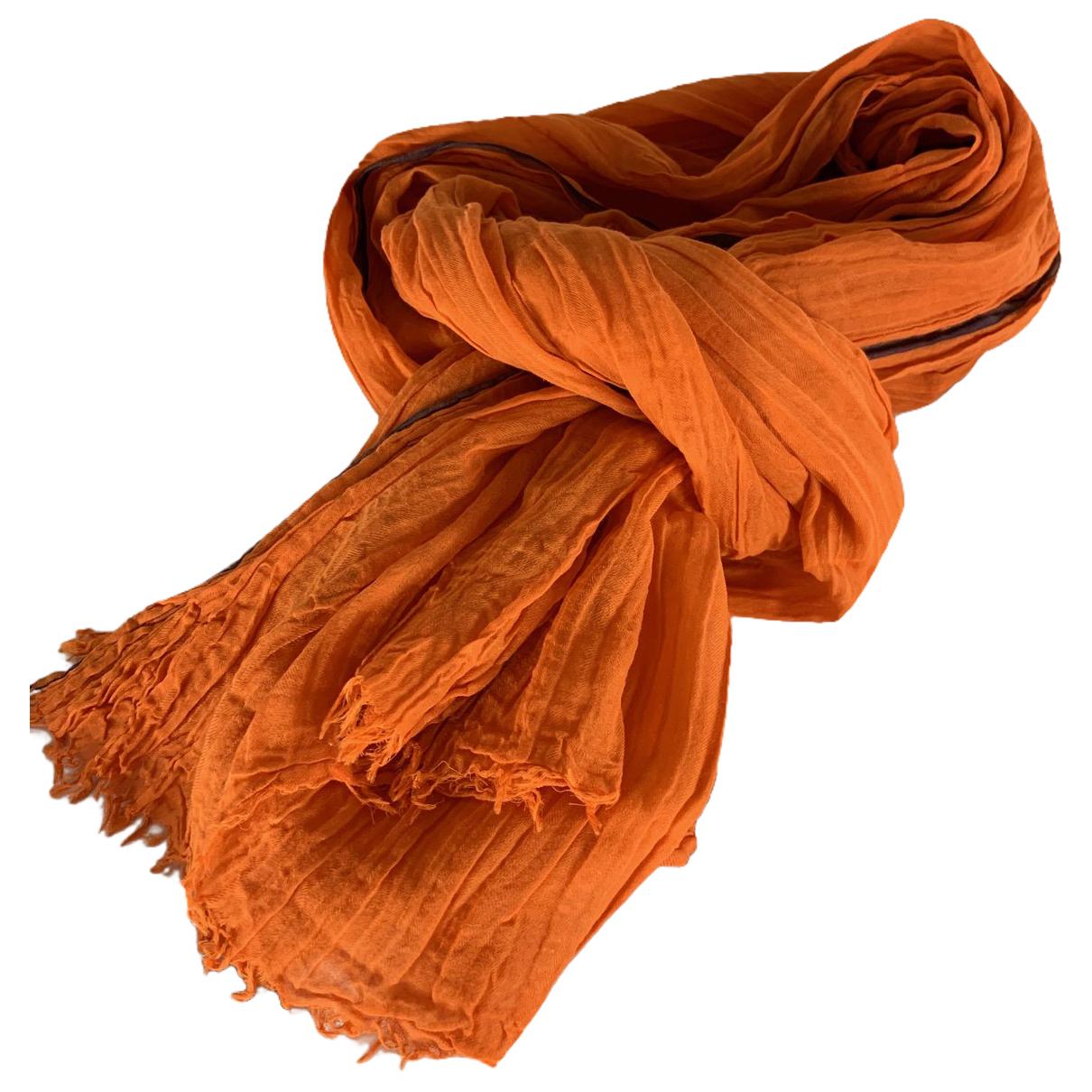 Hermes \N Schal in  Orange Baumwolle