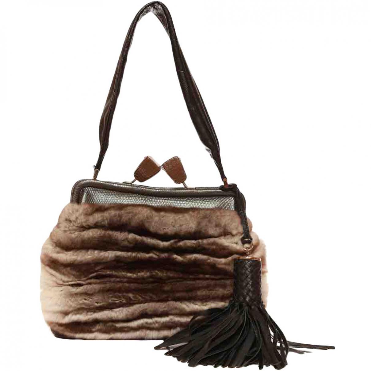 Salvatore Ferragamo \N Handtasche in  Grau Kaninchen
