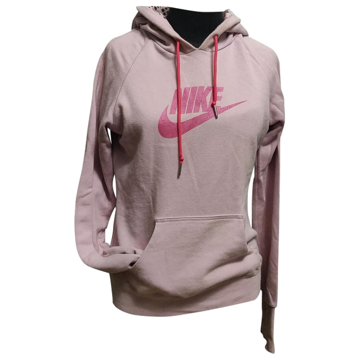 Nike \N Pullover in  Rosa Baumwolle