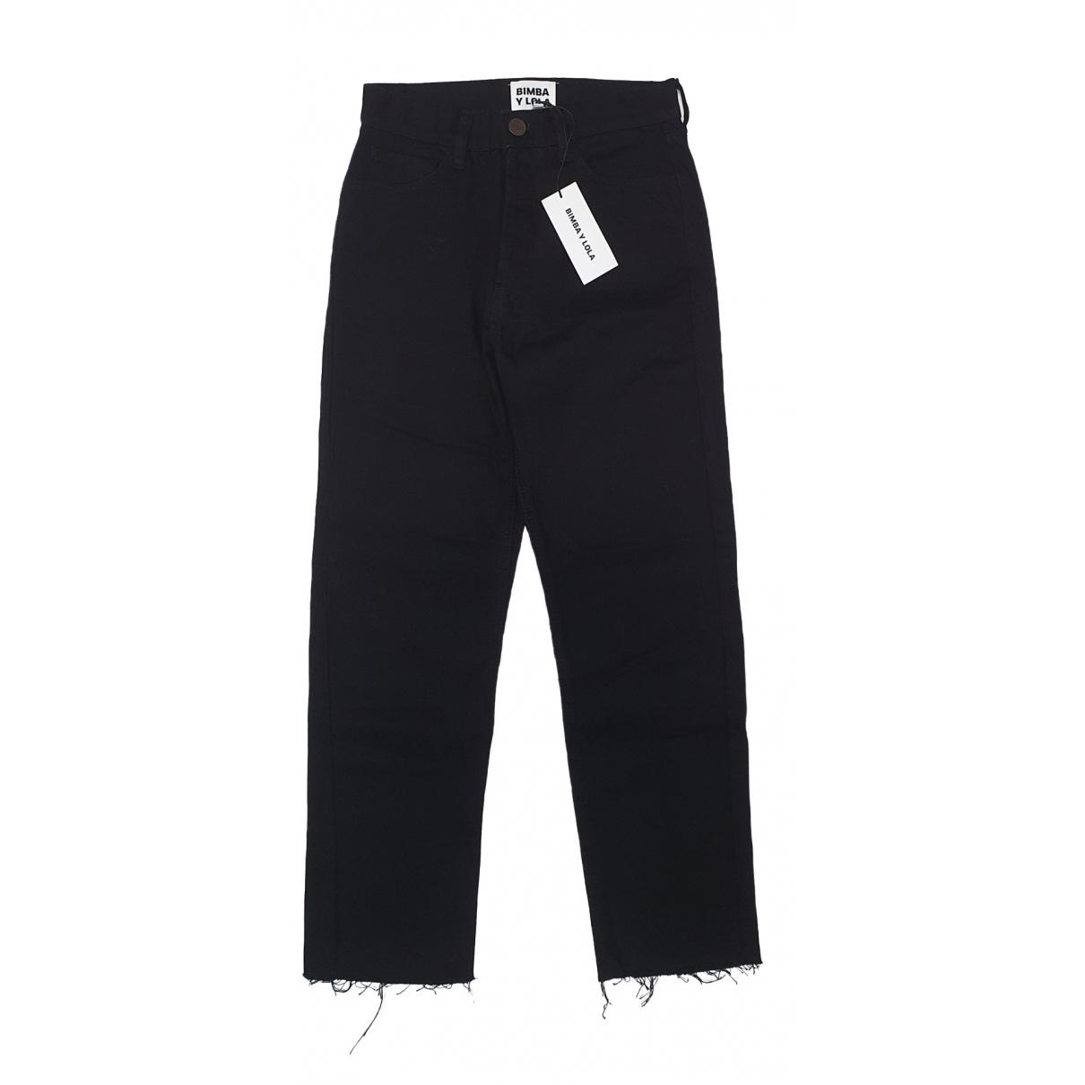 Bimba Y Lola \N Black Denim - Jeans Jeans for Women 44 FR