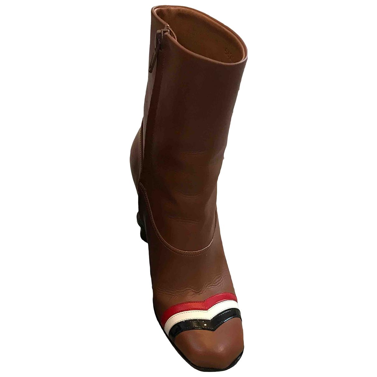 Loewe - Boots   pour femme en cuir - marron