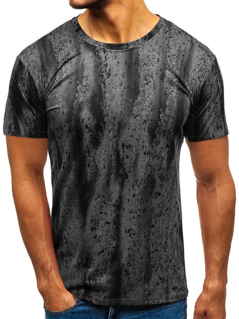 Ericdress Print Round Neck Loose Mens Short Sleeve T-shirt