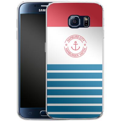 Samsung Galaxy S6 Silikon Handyhuelle - Hamburger Hafen von caseable Designs